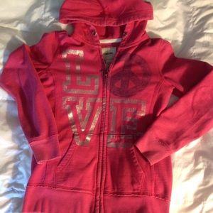 Cherokee girls zip up sweatshirt